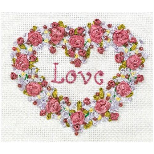 Купить Набор для вышивания лентами PANNA с бисером, Вечная тема (V-0996), Наборы для вышивания