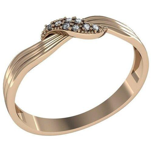 Фото - Приволжский Ювелир Кольцо с 8 фианитами из серебра с позолотой 262566-FA11, размер 19 приволжский ювелир кольцо с 65 фианитами из серебра с позолотой 252119 fa11 размер 19 5