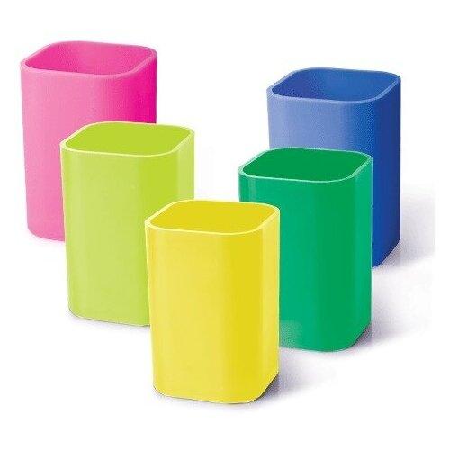 Купить Подставка-органайзер (стакан для ручек), 5 цветов ассорти, 220533, 3 шт., Uniplast, Канцелярские наборы