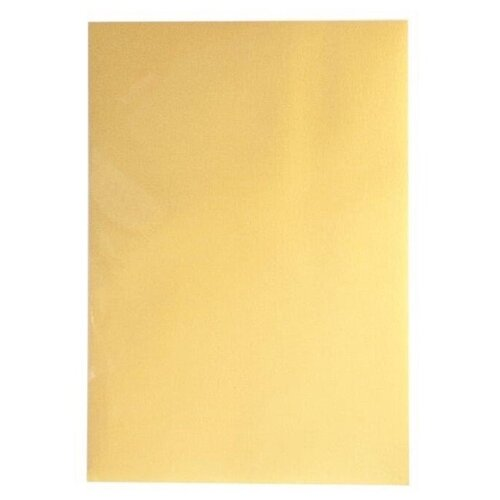 Дизайн-бумага Комус Золотистый металлик, (А4)