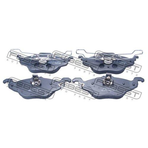 Дисковые тормозные колодки передние FEBEST 1801-ASGF для Opel Astra, Opel Zafira (4 шт.) дисковые тормозные колодки задние bosch 0986424646 для opel astra opel zafira 4 шт