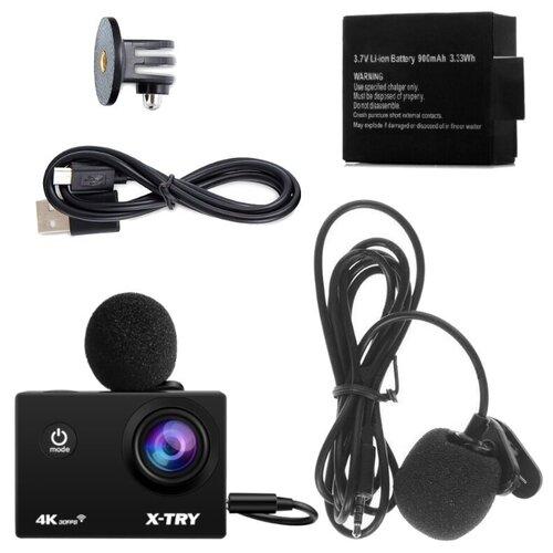 Фото - Экшн-камера X-TRY XTC181 EMR Battery 4K WiFi экшн камера r wings air 4k wifi rwc001