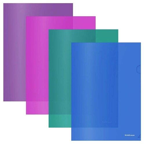 Папка-уголок пластиковая Fizzy Vivid, A4, полупрозрачная, ассорти недорого