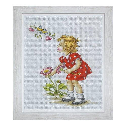 Набор для вышивания Девочка в красном платье , Luca-S