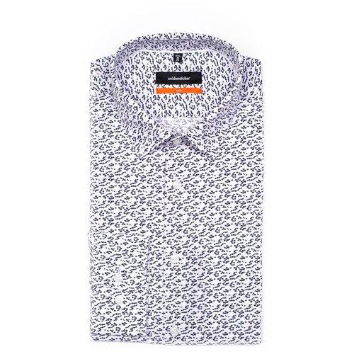 Рубашка Seidensticker размер 40 белый/черный