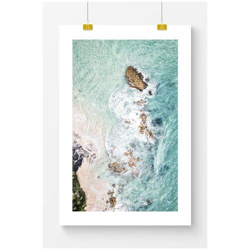 Постер для интерьера Postermarkt Скалы у берега моря, 50х70 см, в тубусе скалы у моря