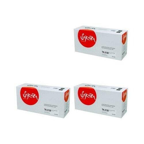 Sakura SATK3130-3PK Картриджи комплектом TK-3130 черный 3 упаковки, совместимый [выгода 3%] Black 75К для Ecosys M3550idn M3550, FS-4200DN FS-4200