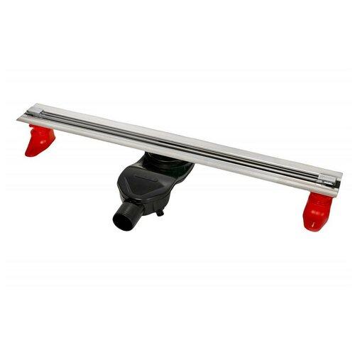 Желоб BERGES водосток SUPER Slim 700, хром глянец, S-сифон D50 H60 боковой