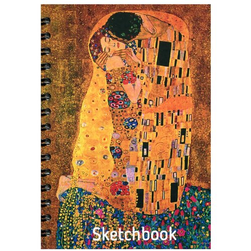 Купить Скетчбук. А5. Климт. Поцелуй., Попурри, Альбомы для рисования