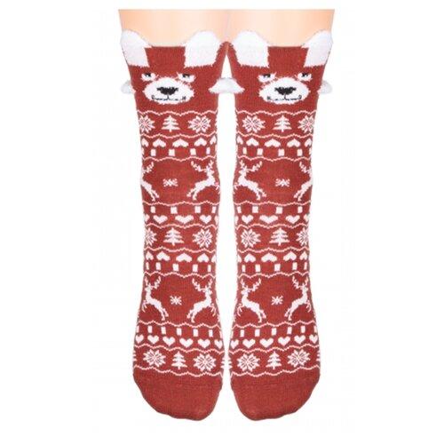 Носки женские Красная ветка С498 новогодние, Бордовый, 23-25 (размер обуви 35-39)