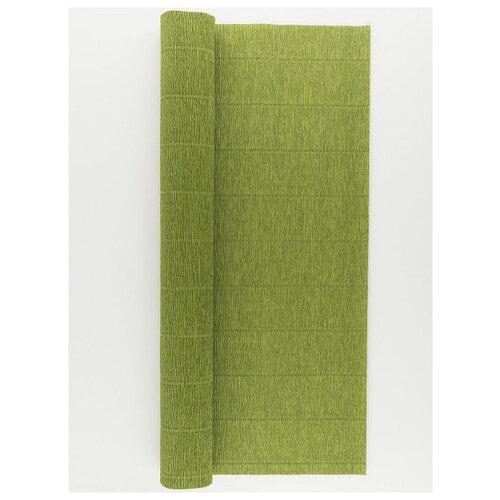 Купить Бумага гофрированная 50см х 2, 5м., 180г/м., Cartotecnica Rossi, 622 оливково-зеленый, Цветная бумага и картон