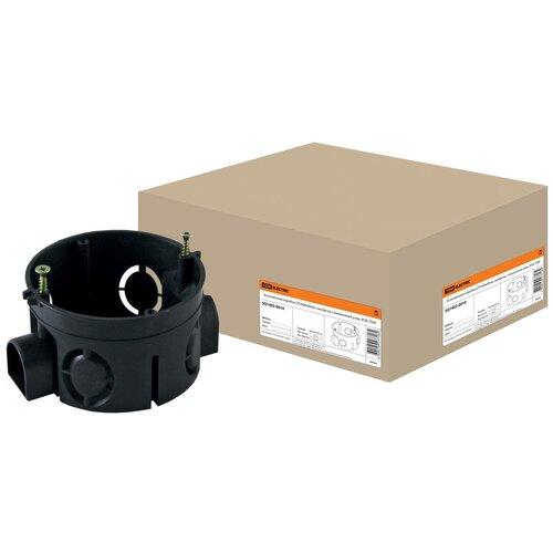 Установочная коробка СП D68х40мм, саморезы, стыковочные узлы, IP20, TDM SQ1402-0010