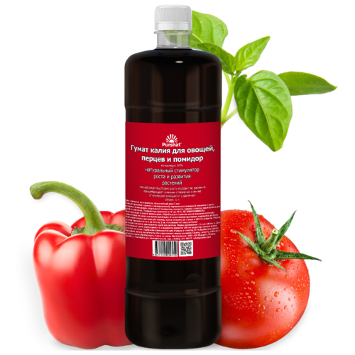 Гумат калия Пуршат для овощей, томатов и огурцов 1000 мл