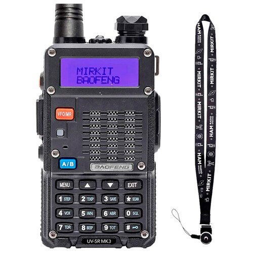 Рация Baofeng UV-5R MK3 5W, Li-ion 1800 мАч UHF/VHF, + Ремешок для рации Mirkit
