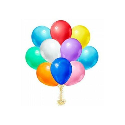 Шарики надувные 10 шт упаковка, воздушные шарики, детские воздушные шары, воздушные шары цветные