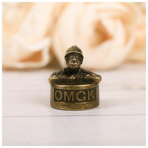 Наперсток сувенирный «Омск» латунь, 2,2 х 2,7 см 4091277