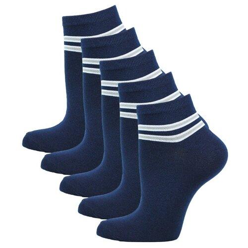 Носки Годовой запас носков укороченные уж5, 5 пар, размер 23 (36-38), синий