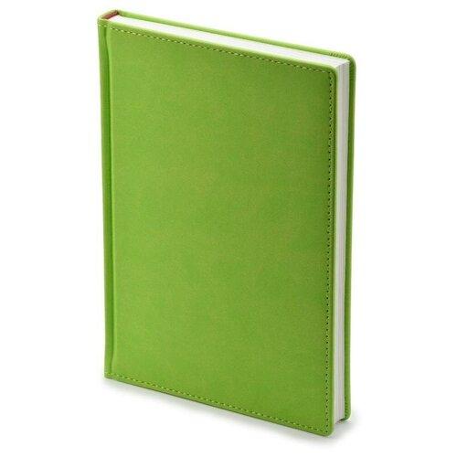 Купить Ежедневник недатированный Attache Velvet искусственная кожа Soft Touch A5+ 136 листов салатовый (146х206 мм) 1 шт., Ежедневники
