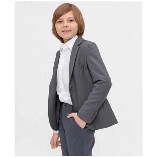 Купить Пиджак Button Blue размер 134, серый, Пиджаки