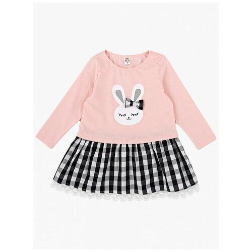 Фото - Платье Mini Maxi, 3799, цвет кремовый/розовый, размер 116 рубашка fendi размер 116 кремовый