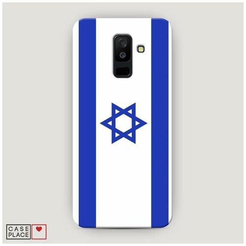 Чехол Пластиковый Samsung Galaxy A6 Plus Флаг Израиля