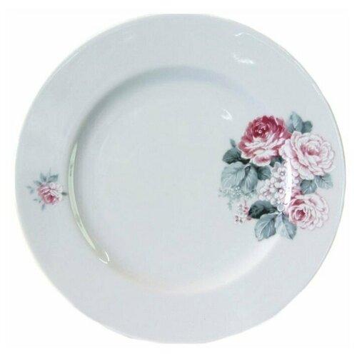 Тарелка плоская Cmielow Astra Розы, 19см, фарфор.  тарелка cmielow rococo плоская 25см фарфор 0031190 rococo