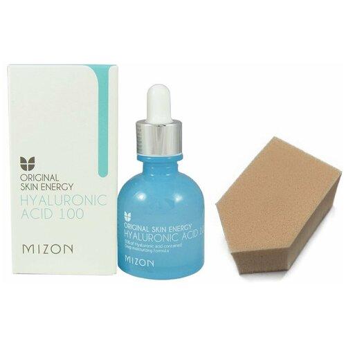 MIZON HYALURONIC ACID Сыворотка для лица с гиалуроновой кислотой, 30мл + спонж