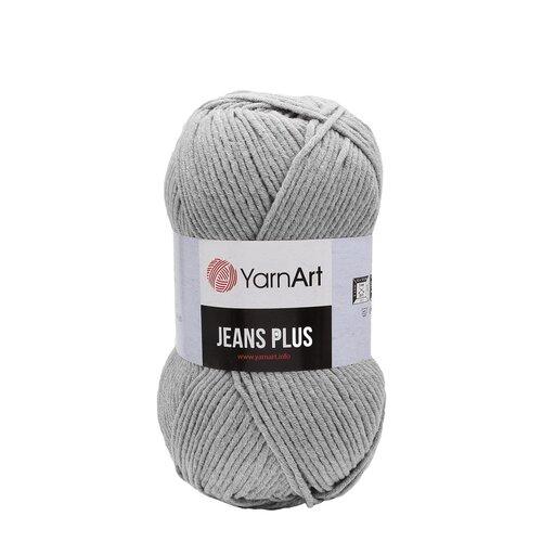 Пряжа YarnArt 'Jeans Plus' 100гр 160м (55% хлопок, 45% полиакрил) (46 серый), 5 мотков пряжа yarnart пряжа yarnart jeans plus цвет 53 черный