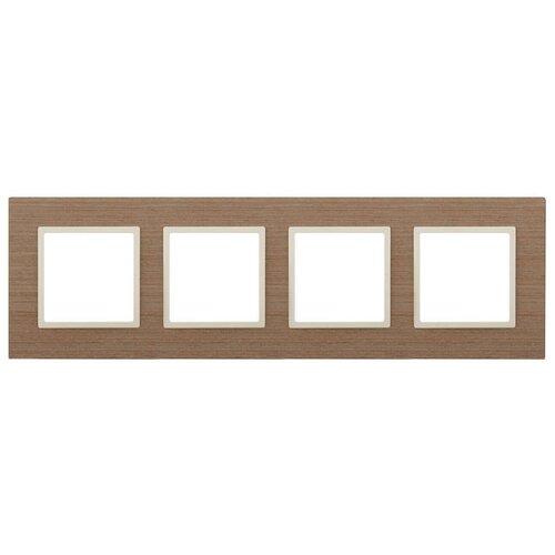 Рамка 4-постовая ЭРА Elegance 14-5304-07 Б0034584