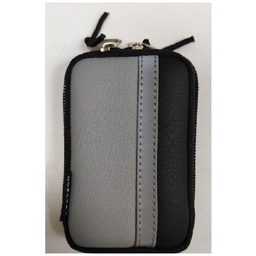 Фото - Сумка для компактного фотоаппарата Lagoda ALFA-019 Черно-серая с полосой fendi кожаная сумка с заклепками