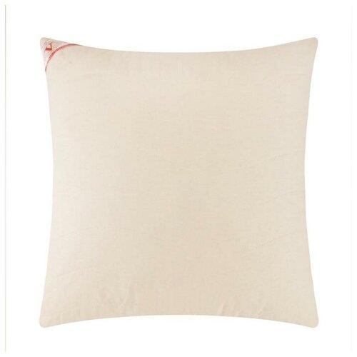 Подушка на молнии Царские сны Овечья шерсть 50х70 см, сливочный, перкаль (хлопок 100%)
