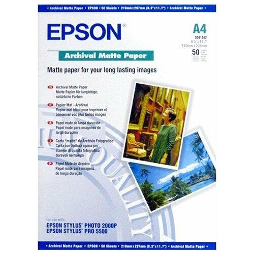 Фото - Бумага Epson Archival Matte Paper (C13S041342) epson бумага epson water resistant matte canvas 44 x 12 2м c13s042016