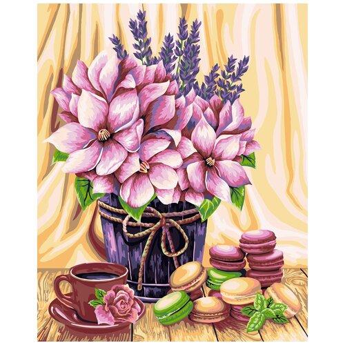 Купить Картина по номерам ФРЕЯ Жду тебя к чаю! 40х50 см, Картины по номерам и контурам