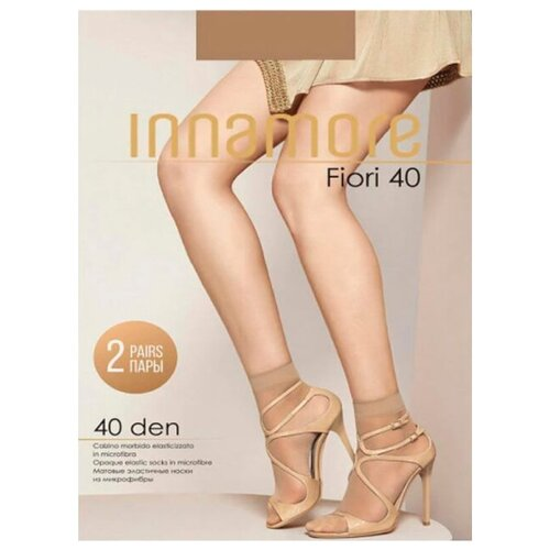Капроновые носки Innamore Fiori 40, 2 пары, размер UNI, daino