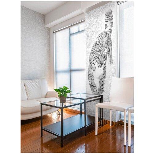 Фотообои Леопард/ Красивые уютные обои на стену в интерьер комнаты/ 3Д расширяющие пространство/ На кухню в спальню детскую зал гостиную прихожую/ размер 100х270см/ Флизелиновые