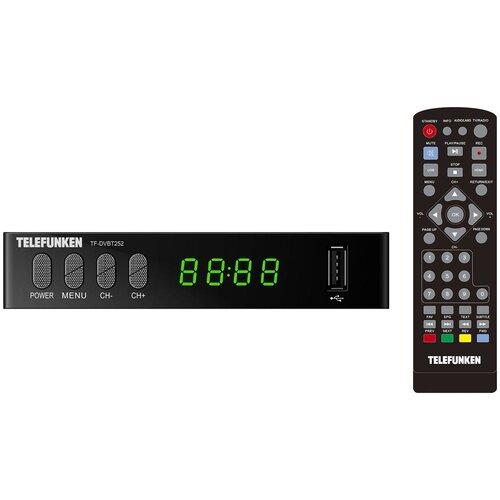 Ресивер DVB-T2 Telefunken TF-DVBT252, черный