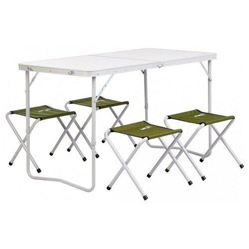 Helios Набор мебели (сталь), стол + 4 табурета Green (Т-FS-21407+21124-SG) Helios (пр-во ГК Тонар) недорого