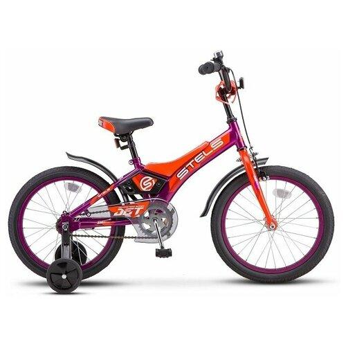 Детский велосипед Stels Jet 16 Z010 (2020) фиолетовый/оранжевый (требует финальной сборки)
