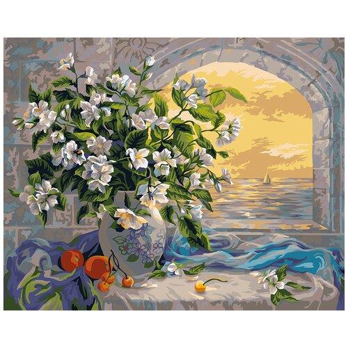 Фото - Картина по номерам ФРЕЯ Жасмин 40х50 см картина по номерам фрея нотр дам огненный закат 40х50 см