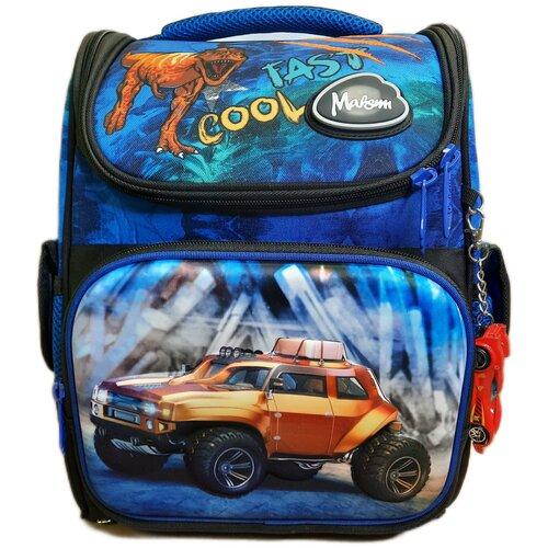Школьный рюкзак для мальчика 3D машина с сумкой для сменной обуви / Ранец школьный для мальчика / Рюкзак школьный / Ортопедический рюкзак / Портфель школьный / Рюкзак для мальчика / Ранец ортопедический / Рюкзак 3Д