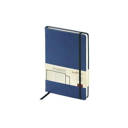 Купить Блокнот Bruno Visconti Megapolis Velvet A5 100 листов темно-синий в клетку на сшивке с фиксирующей резинкой (144х212 мм) 1 шт., Ежедневники