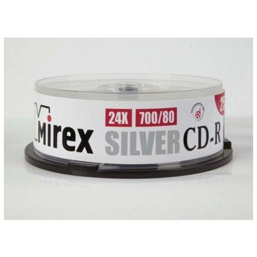 Диск CD-R Mirex 700 Mb, 24х, Silver, Cake Box (10), (10/300)