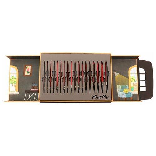 20641 Knit Pro Набор съемных спиц Knit Purr кабельное соединение, дерево, 9 видов спиц в наборе