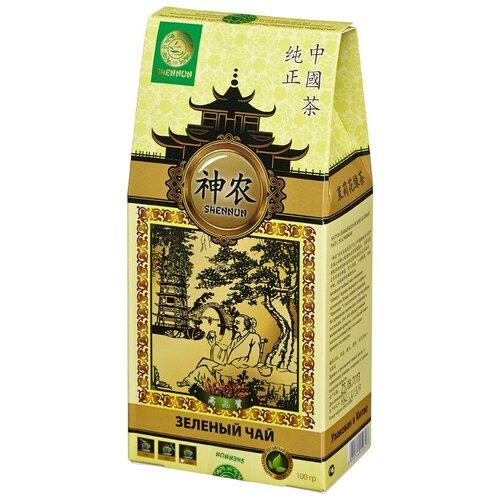 Чай Shennun Мо Ли Мао Фен зеленый с жасмин, листовой 100 г. 13058/16047