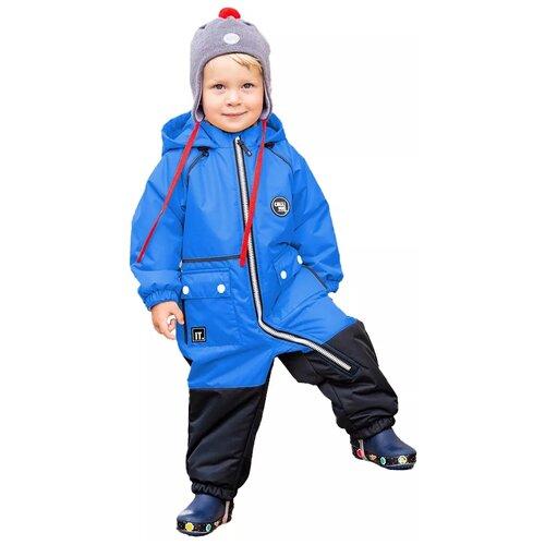 Купить Комбинезон NIKASTYLE размер 86, голубой/черный, Теплые комбинезоны