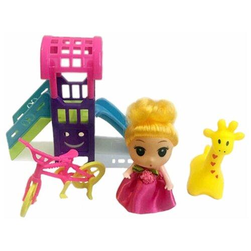 Фото - Игровой набор Наша Игрушка На прогулке, кукла 9 см (W800-104) кукла наша игрушка на прогулке 15 см лошадка