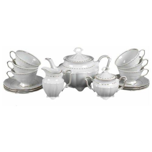 Чайный сервиз на 6 персон 15 предметов Cmielow Мария-Тереза /Золотая скромность (220 мл) / 128176 сервиз чайный фарфоровый на 6 персон 220 мл royal classics 14 предметов