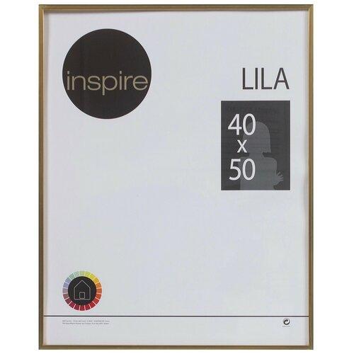 рамка inspire lila 21х29 7 см цвет белый Рамка Inspire «Lila», 40х50 см, цвет золото
