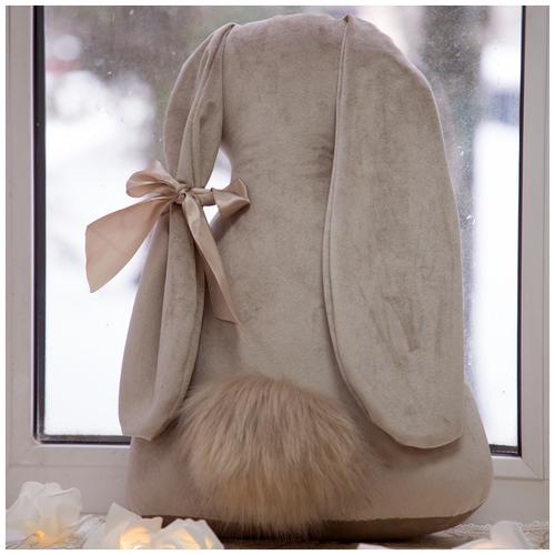 Подушка декоративная Кролик Мия Вельвет Беж
