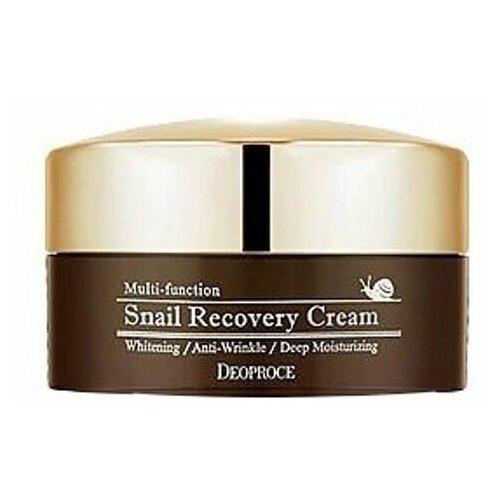 Антивозрастной крем для лица с улиточным муцином Deoproce Snail Recovery Cream, 100 гр крем с фильтратом слизи улитки deoproce snail recovery cream